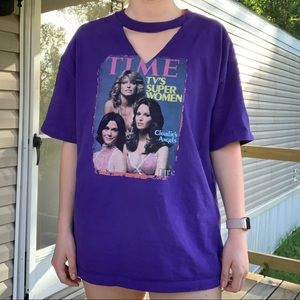 Tops - Charlie's Angels cutout T-shirt! Size x-large!